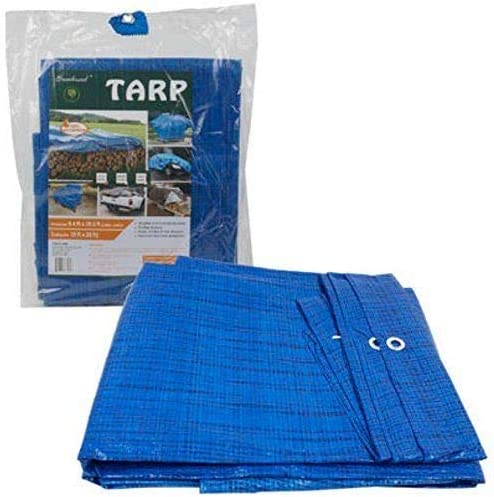 2021 12 ft X discount lowest 9 ft Waterproof Multi Purpose Water Proof Blue Tarp Poly Cover for Roof Car sale
