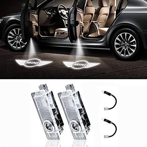 2 Pcs LED Car Projector Coche Logo Proyecci/ón Bienvenido L/ámpara de Luz Magnetic Door Welcome Shadow Light Universal Wireless