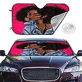 BIAN-63 Car Sun Shades for Windshield Foldable Black Girl Magic Sexy African American Sunshades for Car UV Sun Protection Keep Your Car Cooler