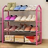 Soporte para zapatos de 3 niveles de acero inoxidable con capacidad para hasta 15 pares de zapatero para ahorrar espacio (tamaño: 64 x 62 x 20 cm)