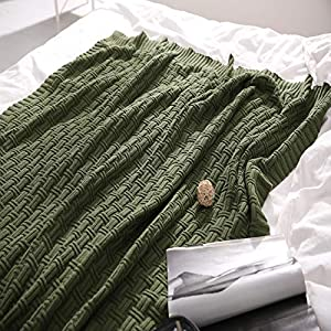 """HIGH QUALITY MATERIAL: TREELY's knit throw blanket is made of 100% cotton. It is incredibly soft. Ideal for tender and sensitive skin. It is no static. Pure cotton does not pilling. PERFECT 50"""" x 60"""" SIZE: The comfortable 50 x 60 Inch cotton cable kn..."""