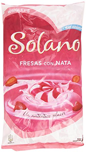 Solano - Fresas con Nata - Caramelo duro sin azúcar - 900 g