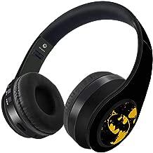 DC Comics Wireless Headphones Bluetooth Decible Headphone with Bulit in Mic Collapsible Design Adjustable Headband Soft Padded Ear Cushions - Batman