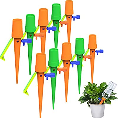 Self Watering Spikes Automatic Watering Devices Adjustable Plant Watering Spikes with Slow Release Control Valve Switch for Indoor Outdoor Plants, Upgrade Design (12) from Maitys