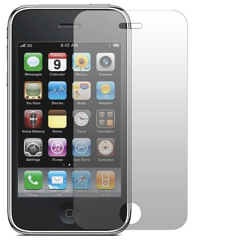 Slabo 2 x Displayfolie für iPhone 3Gs Displayschutzfolie Zubehör Crystal Clear KLAR