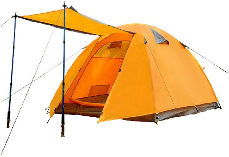 LIW 3-4 Personen Zelt für Camping Backpacking Zelte Doppel-Ebene Doppel-Ebene Doppel-Ebene Instant Easy Setup Wasserdicht UV-Schutz für Picknick-Fischer Beach (Orange) B07Q3P3YCN  Niedrige Kosten 5c8d38