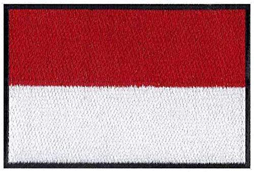 ASTONISH Parches de Bandera de Indonesia para Planchar, 7,6 cm de Ancho, Parche de fútbol, Parches de los Hijos de la Anarquía, Atlético de Madrid