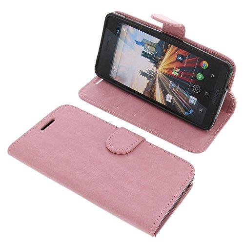 foto-kontor Tasche für Archos 50 Helium 4G Book Style Schutz Hülle Buch rosa