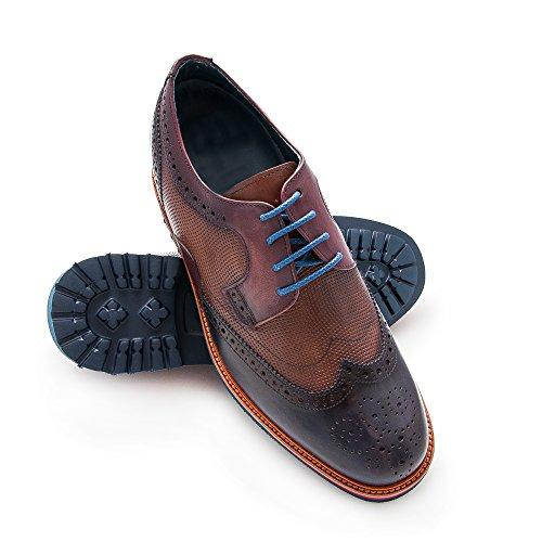 Zerimar Zapatos con Alzas Hombre| Zapatos de Hombre con Alzas Que Aumentan su Altura + 7 cm|Zapatos con Alzas para Hombres | Zapatos Hombre Vestir (39, Azul Marino)