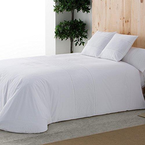 Burrito Blanco - Juego de funda nórdica Atelier Casa 396 para cama de 135x190/200 cm, color blanco