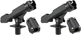 Baosity 2pcs Fishing Rod Holder Universal Fit Kit with Mount for Kayak, Boat, 360 Degree Adjustment