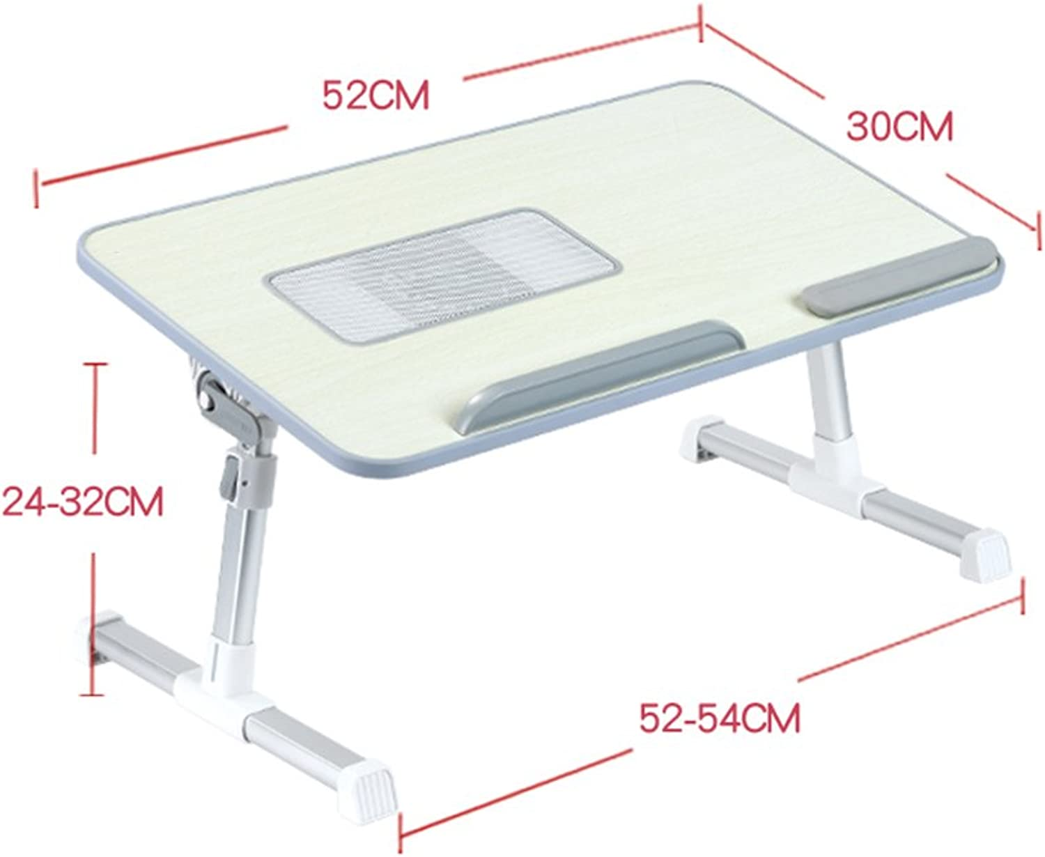 PENGFEI Portable Standing Table Lapdesks Multifunction Desk Bed Dining Table Picnic Collapsible Adjustable Height 2 Size 5 colors (color   E- Cooling Fan)