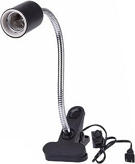 Sincerestore 水族館用 爬虫類 ライト 照明 ライト クリップスタンド カメ 両生類用照明器具 高温耐性を クリップ ライトスイッチ付き (ブラック)