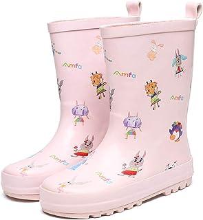 AONEGOLD Bottines de Pluie Garçons Filles Chaussures de Pluie Souples et Durables Imperméable Antidérapant Bottes en Caout...