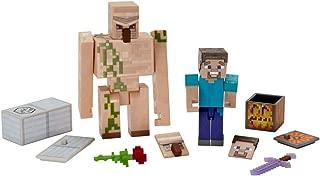 Minecraft Comic Maker Steve and Iron Golem 2-Pack