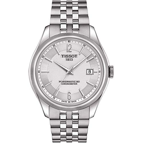 Tissot Reloj analógico automático para hombre, talla única, plateado, bicolor 87201619