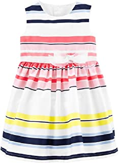 Carter's Striped Dress for Baby Girl Size Newborn White/Pink