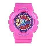 GYHJG Reloj Electrónico Deportivo Multifuncional Reloj De Estudiante De Doble Pantalla Reloj De Gelatina De Color Harajuku De Moda
