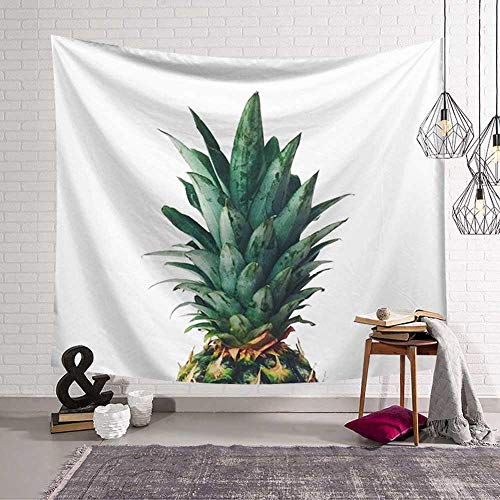 N / A Bohemian style wall hanging tapestry green leaf succulents cactus 3D flower art wall decoration carpet blanket yoga mat beach towel tapestry background cloth A4 100x150cm