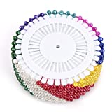 Gleader 480 pcs epingles Droites Pins epingles a Tete Ronde pour Couture Decoration de Mariage Artisanat DIY - Multicolore