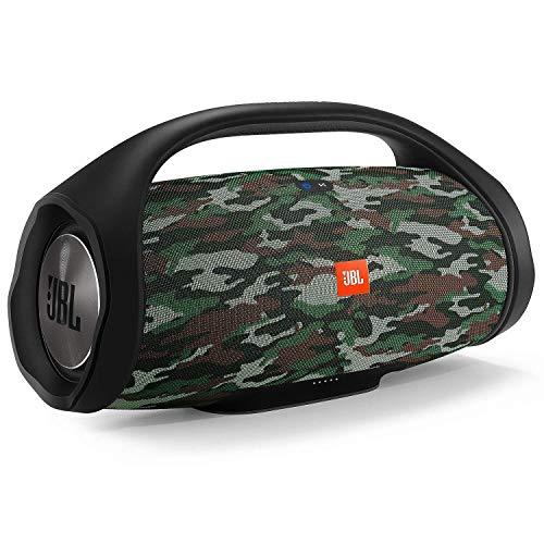 JBL Boombox in Camouflage – Wasserdichter Bluetooth-Lautsprecher mit integrierter Powerbank – Bis zu 24 Stunden Musikgenuss mit nur einer Akku-Ladung – Kabelloses Musikstreaming