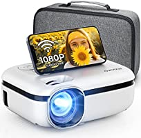 """MOOKA WiFi Projector, 7500L HD Outdoor Mini Projector with Carrying Bag, 1080P & 200"""" Screen Supported, Movie Home..."""