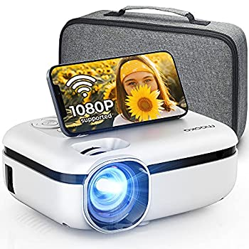 MOOKA WiFi Projector 7500L HD Outdoor Mini Projector with Carrying Bag 1080P & 200  Screen Supported Movie Home Theater for TV Stick Video Games HDMI USB AUX AV PS4 Laptop iOS & Android