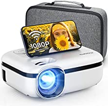 MOOKA WiFi Projector, 7500L HD Outdoor Mini Projector with Carrying Bag, 1080P & 200