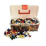 Q-Bricks Basic Mix-Valigetta-750 Bausteine, bunt