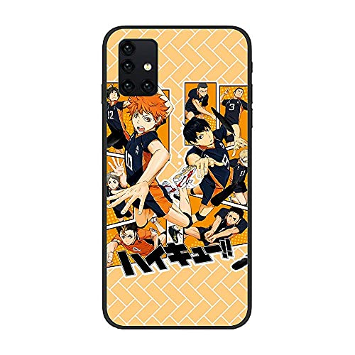 HOOLUCN Black Coque Soft Thin Anti-Stain Lightweight TPU Wireless-Charging Cover Case for Samsung Galaxy A51 5G-Haikyuu-Anime Volleyball 3