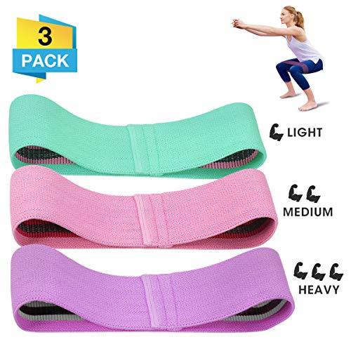 CAMTOA Bande Elastiche Fitness Estensori torace Fasce di resistenza in tessuto Anelli per esercizi di alta qualità, fasce per esercizi fisici con design antiscivolo