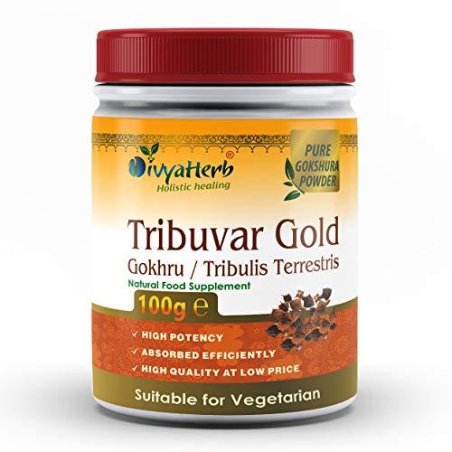 DivyaHerb Tribuvar Goldpulver (Gokhru - Gokshura)