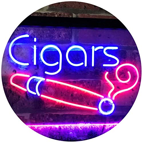 ADVPRO Cigars Lover Room Décor Dual Color LED Neon Sign Blue & Red 16' x 12' st6s43-i2335-br