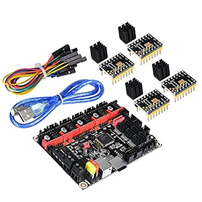 KINGPRINT SKR V1.3 Smoothieware 32bit Controller Board for 3D Printer Compatible with 12864LCD / Support A4988 / 8825 / TMC2208 / TMC2100 Driver (SKR and 4*TMC2130 SPI)