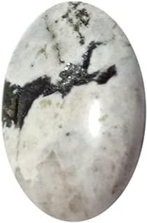 White Rainbow Moonstone Worry Stone