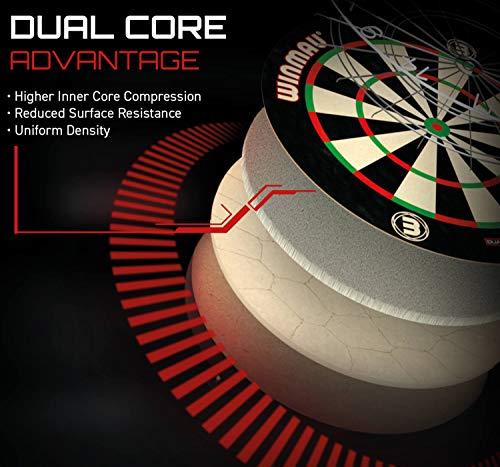 WINMAU Unisex-Erwachsene BLADE5 Blade 5 Dual Core Bristle Dartboard, schwarz, weiß, rot, 1.50 x 17.75 x 17.75