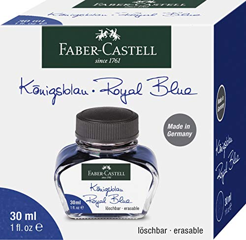 Tinta para pluma estilográfica Rey azul Borrar y auswaschbare tinta Para plumas con convertidor Con vidrio 30ml