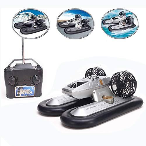 AAAHHH RC Boat Ferngesteuertes 4 Channel Radio Hover Schiff Amphibienfernsteuerungs Hovercraft Boot Spielzeug Für Kinder Schwarz Kinderspielzeugboot,Weiß