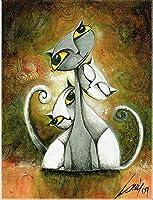 フルスクエアドリル5DDIYダイヤモンドペインティング漫画猫ファミリー3D刺繡クロスステッチ5D家の装飾ギフト