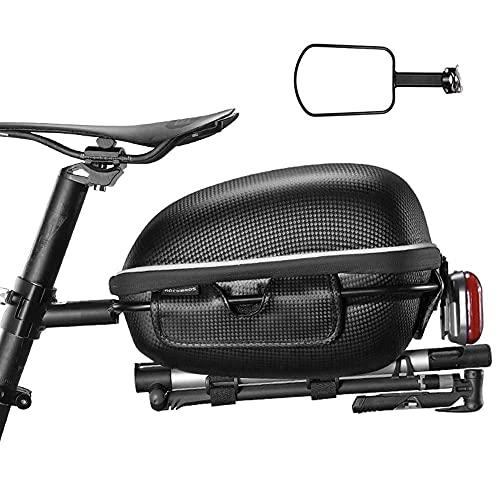 Bolsa Trasera de Bicicleta Estuche rígido Bolsa de sillín Bolsa de Carretera para Bicicleta de montaña Bolsa Trasera para Montar en Bicicleta Accesorios para Equipos de conducción, Adecuado