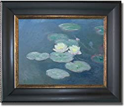 Artistic Home Gallery Nympheas by Claude Monet Premium Black & Gold Framed Canvas (Ready-to-Hang)