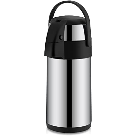 3 Liter Airpot Coffee Airpot Stainless Steel Vacuum Insulated Airpot Coffee Dispenser Stainless Steel Coffee Insulation Pot Pressure Pot with Pump