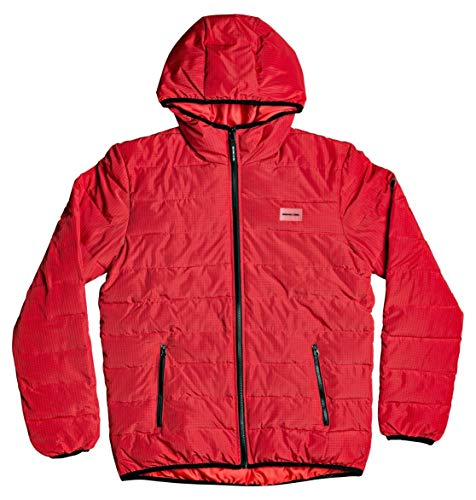 DC Shoes Turner Puffer - Chaqueta Aislante Con Capucha Para Hombre Chaqueta Aislante Con Capucha, Hombre, racing red, L