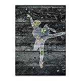 hetingyue Sin Marco Abstracto nórdico Retro Ballet Girl Imagen Silueta Cartel Lienzo Impresiones artísticas Arte de la Pared Cuadro Pintura Dormitorio 40x60 cm