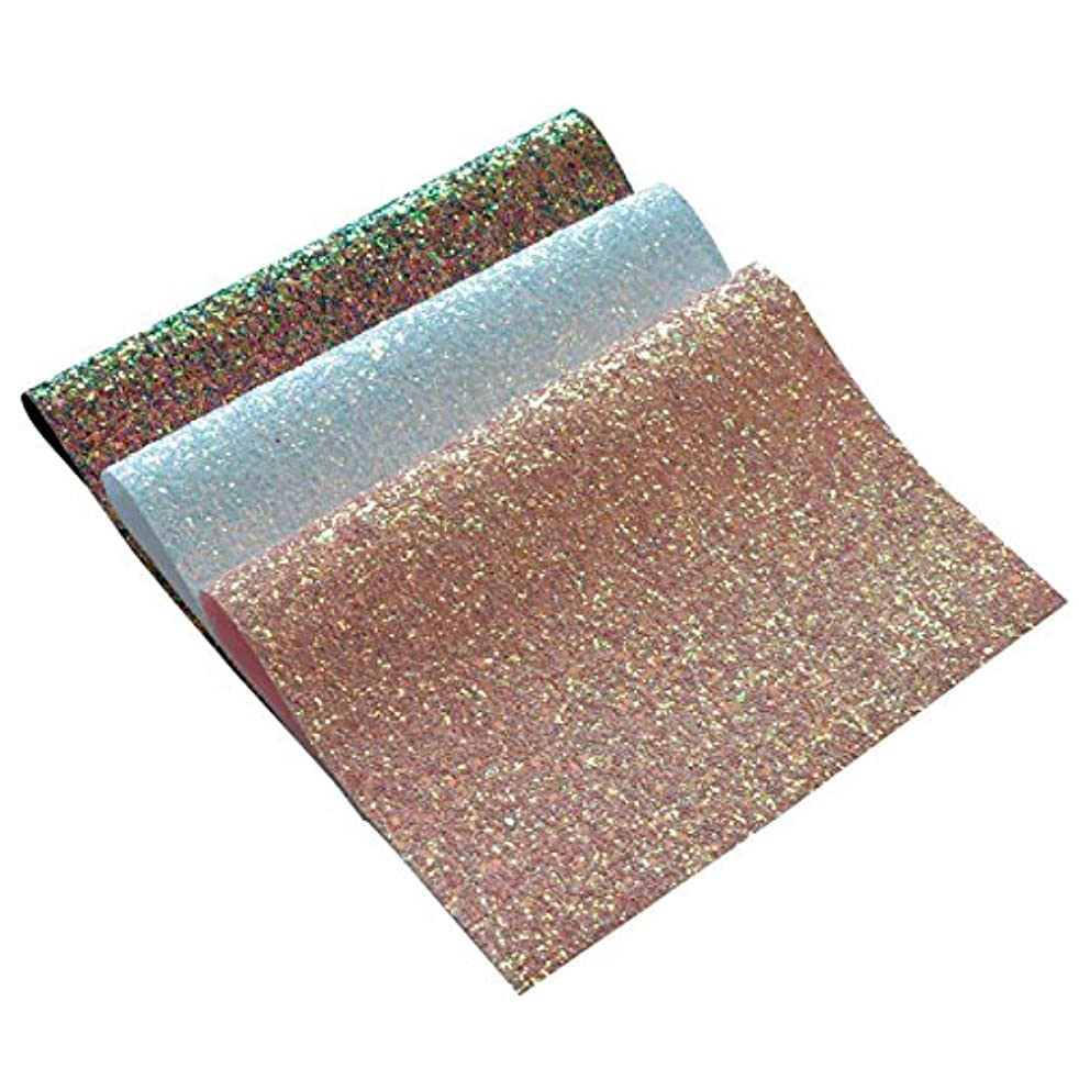 Chunky Glitter Fabric Sheets- 3 Pieces of Assorted Colours 8