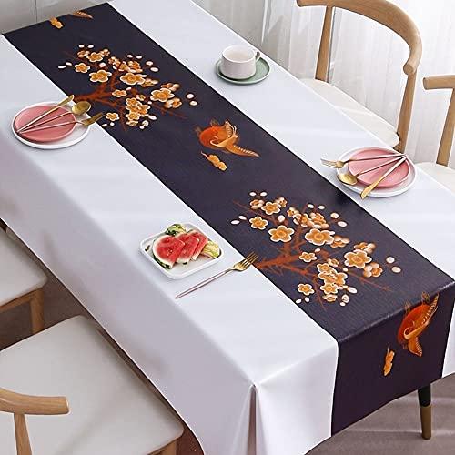 MUMUMI wasserdichte und ölbeständige Küchentischabdeckung Rechteckige PVC-Garn-Tuch-Material im Freien Picknicktisch-Tuch Anti-Scald Indoor Restaurant Tischdecke für 6 Fuß Tabelle