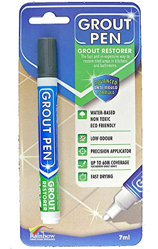 Grout Pen Dark Grey - Ideal to Restore The Look of Tile Grout Lines
