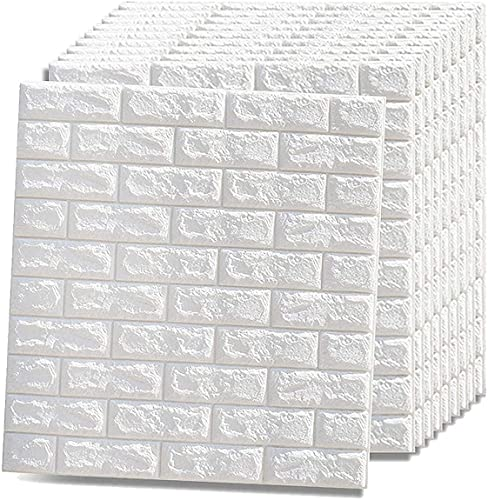 Self-Adhesive 3D Wallpaper, Stone-Look Wall Panels, Brick Wall Sticker,Antikollisions-Wandaufkleber Wandpaneele, Wohnzimmer Hintergrund Wandschaum Aufkleber.(Size:30 pieces)