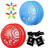 Best MAGICYOYO yoyo - MAGICYOYO Blue and Red Yoyos for Kids, Pack Review