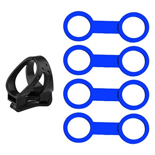 lahomia 4X Soporte para Máscara de Esnórquel de Buceo de Silicona Azul + 1x Protector de Clip Desmontable